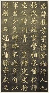 黄自元楷书杨君墓志铭09书法作品字帖欣赏