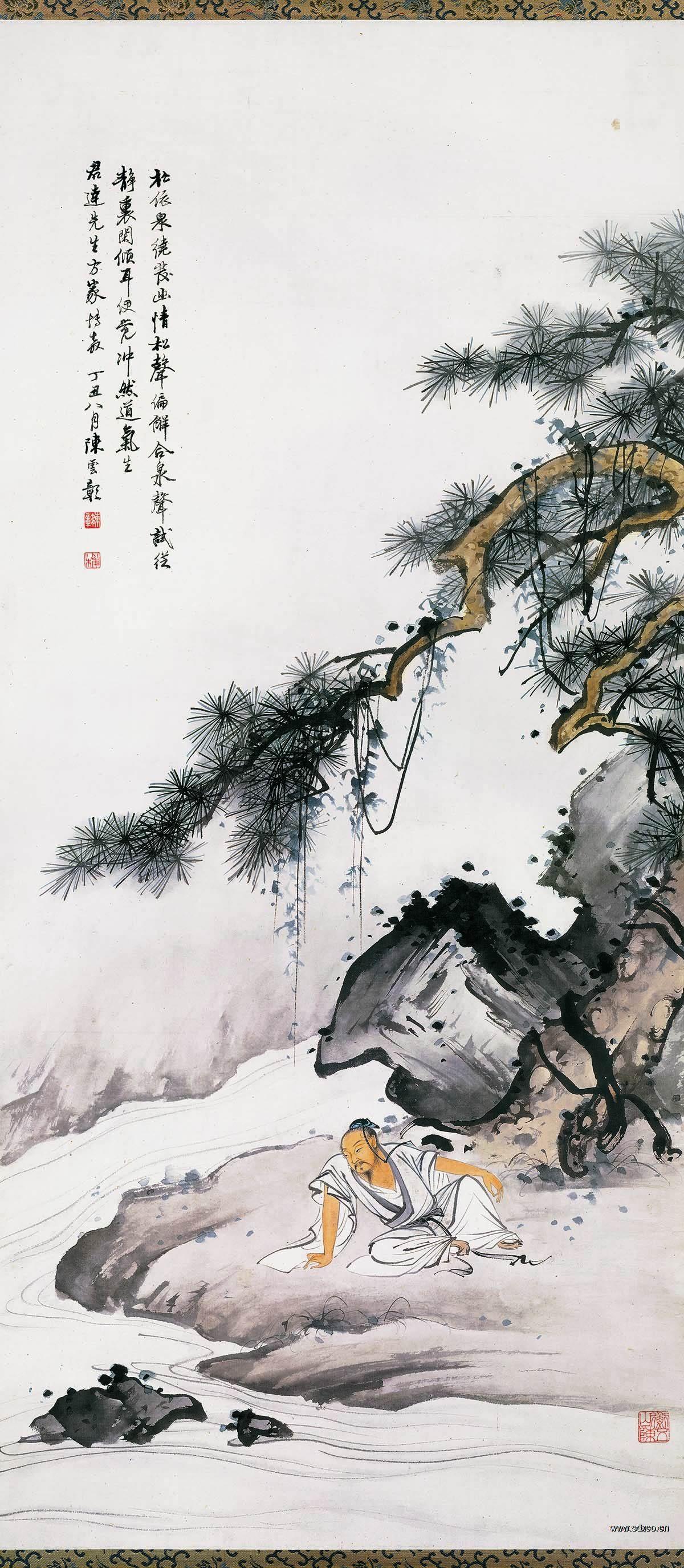 陈少梅 人物图41×94