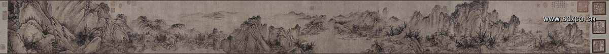 金 佚名 太古遗民 江山行旅图38.42x417.83纳尔逊