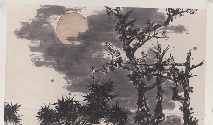 潘天寿 墨梅1(圣彩虹原始扫描)