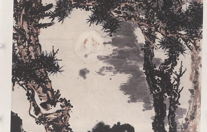 潘天寿 墨梅3(圣彩虹原始扫描)