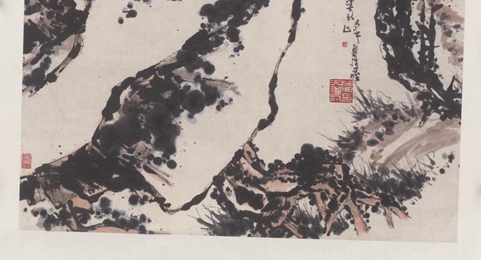 潘天寿 墨梅(圣彩虹原始扫描)sb