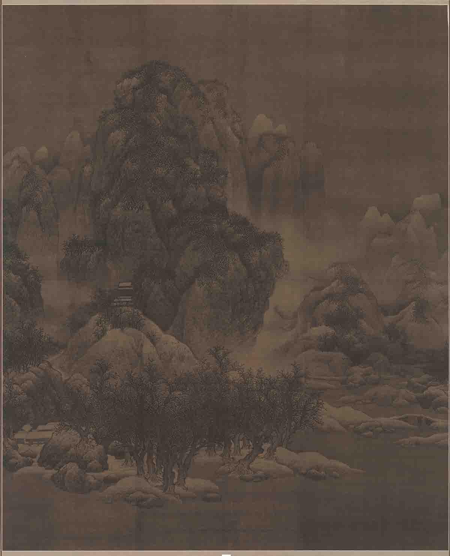 宋 范宽 雪景寒林图(旧)98X80