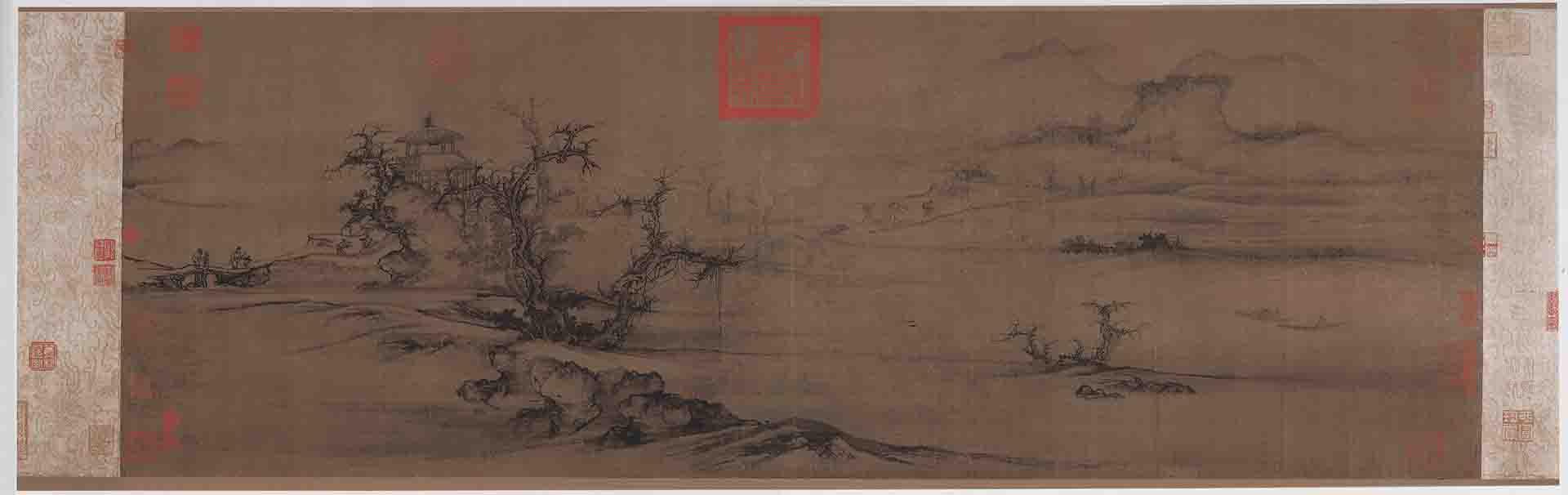 北宋 郭熙 树色平远图 绢本32.4x104.8