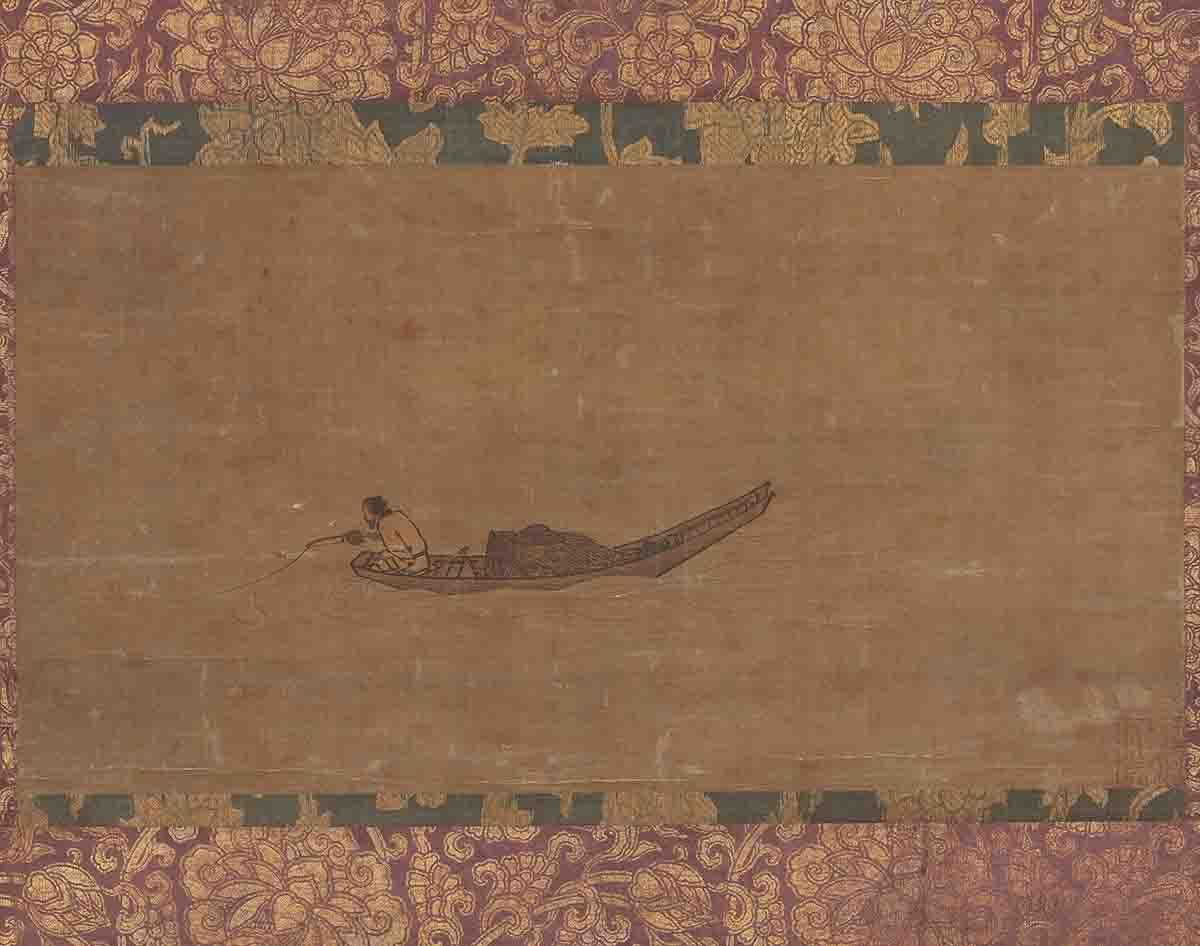 南宋 马远 寒江独钓图绢本65x82东京国立博物馆