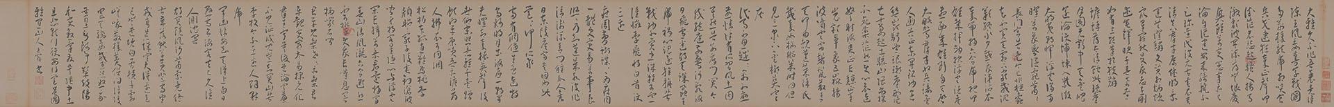 明 王宠 草书李太白诗卷纸本27x336