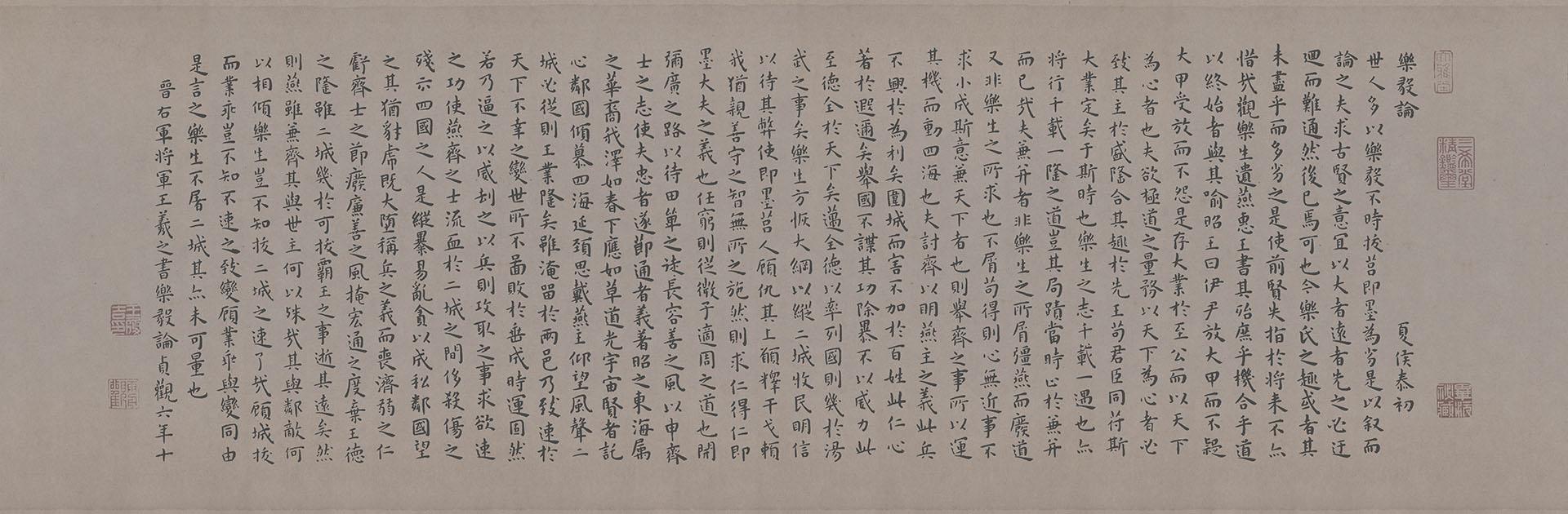 明 王宠 临乐毅论29X90