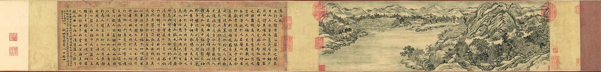 明 文徵明 楷书盘谷叙张若霭图 纸本 129.7x15.8