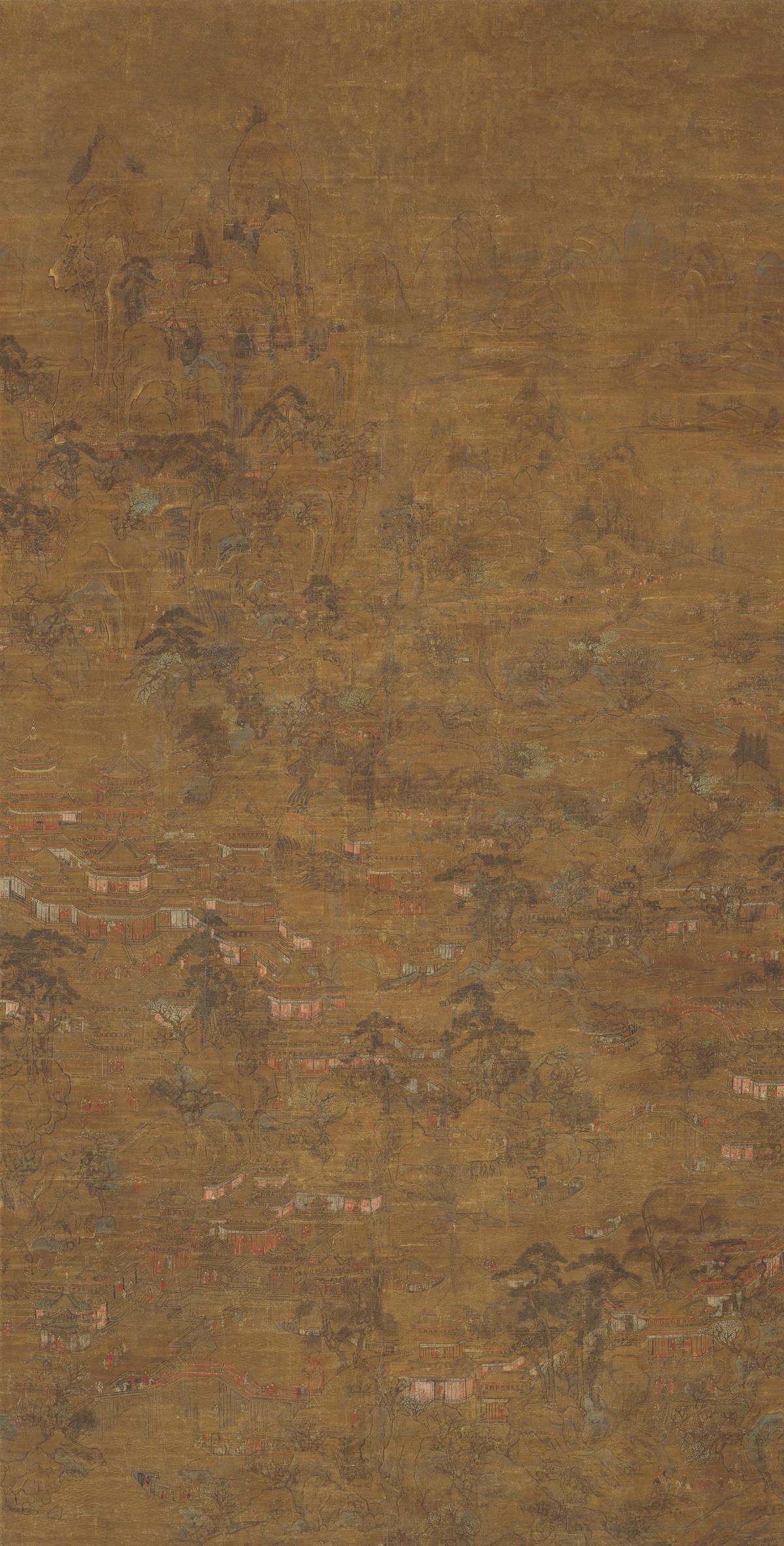 唐 无款 宫苑图(轴)绢本162.5x83.7北京