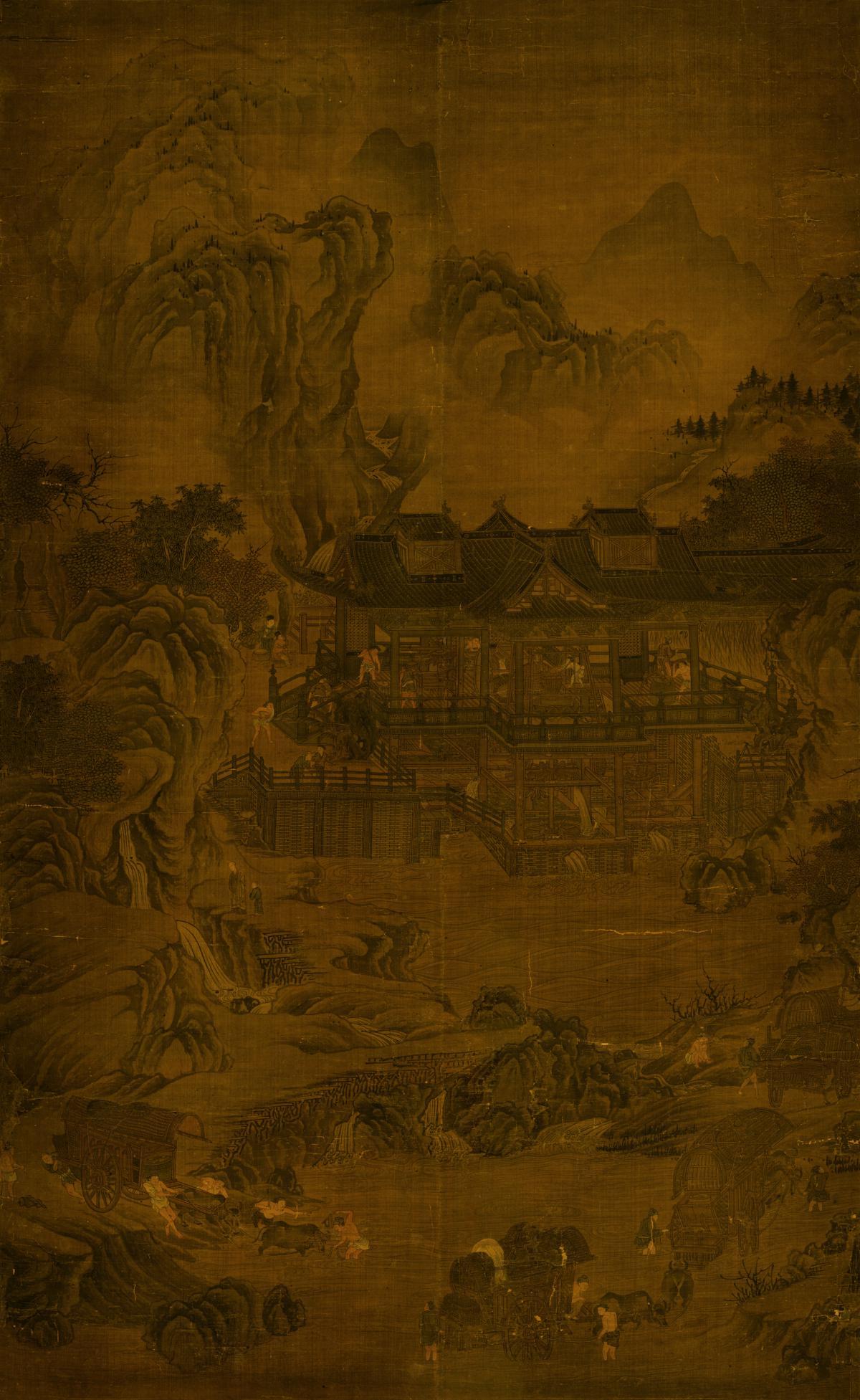 辽024-元 佚名 山溪水磨图