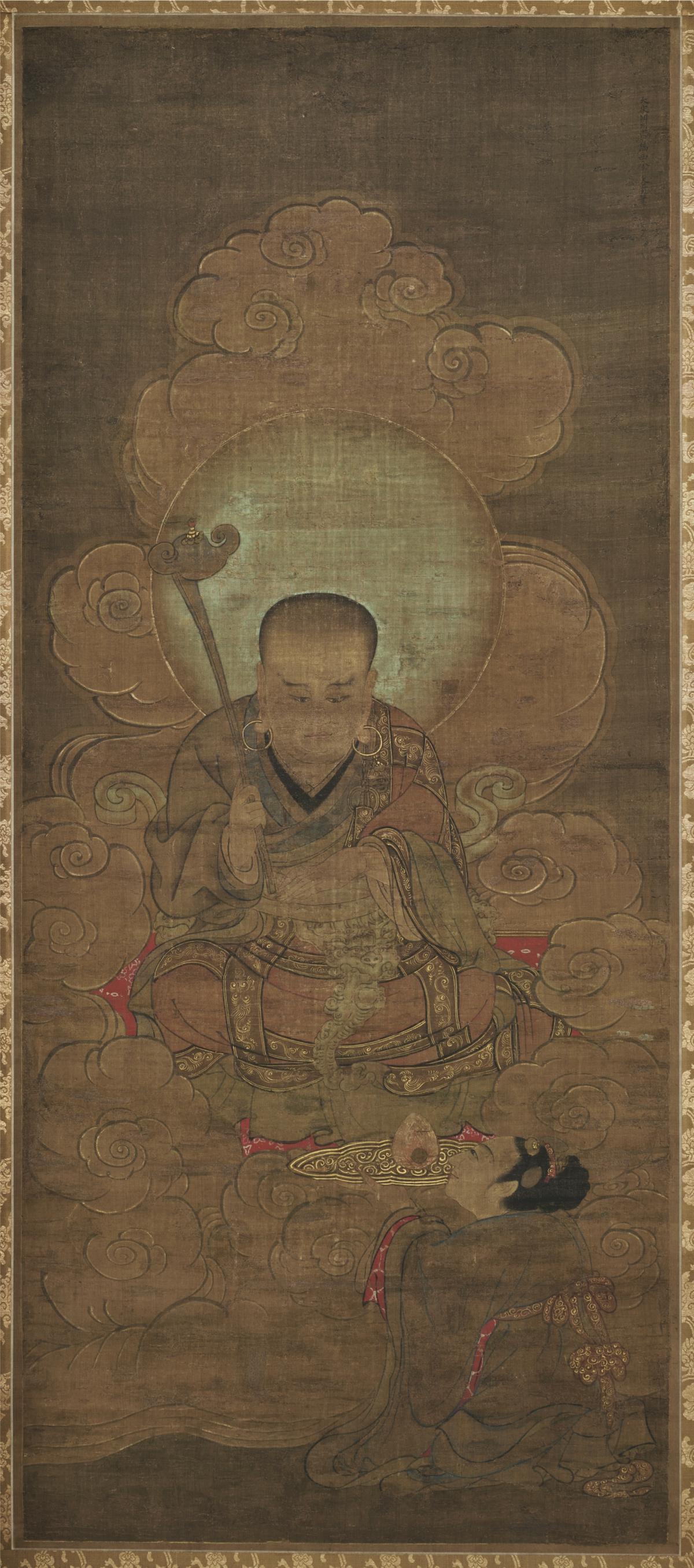 南宋 金大受 十六罗汉图第二尊者118.8×51.7