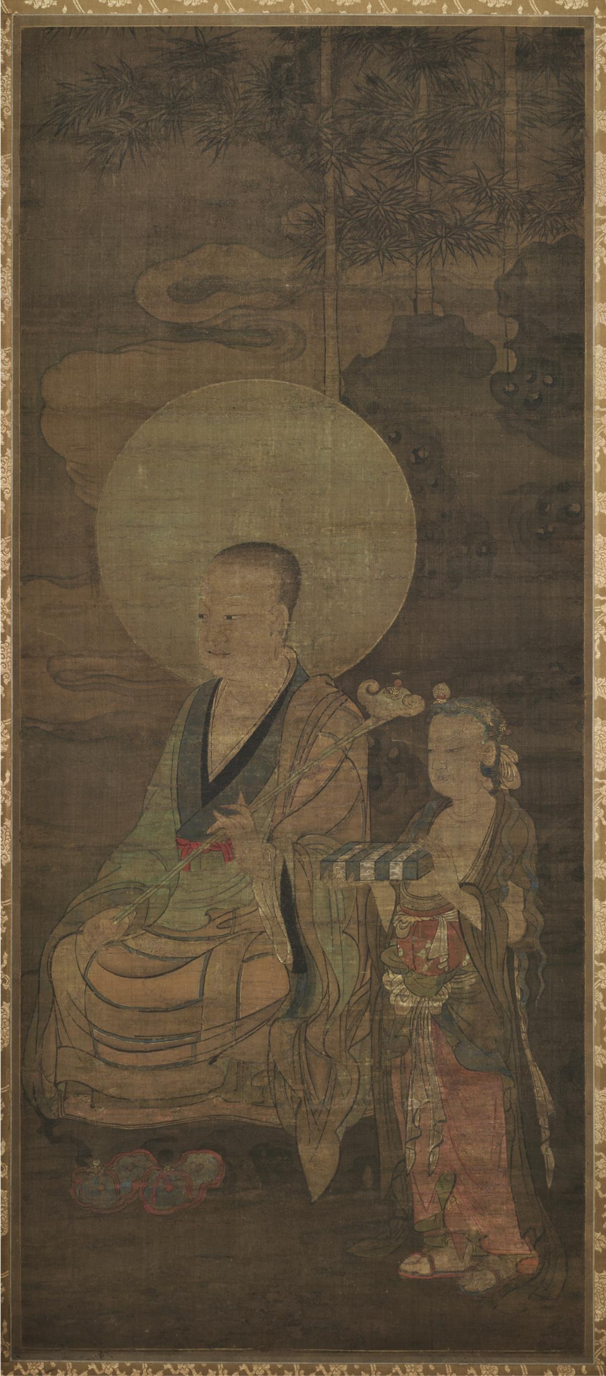 南宋 金大受 十六罗汉图第十一尊者118.8×51.7