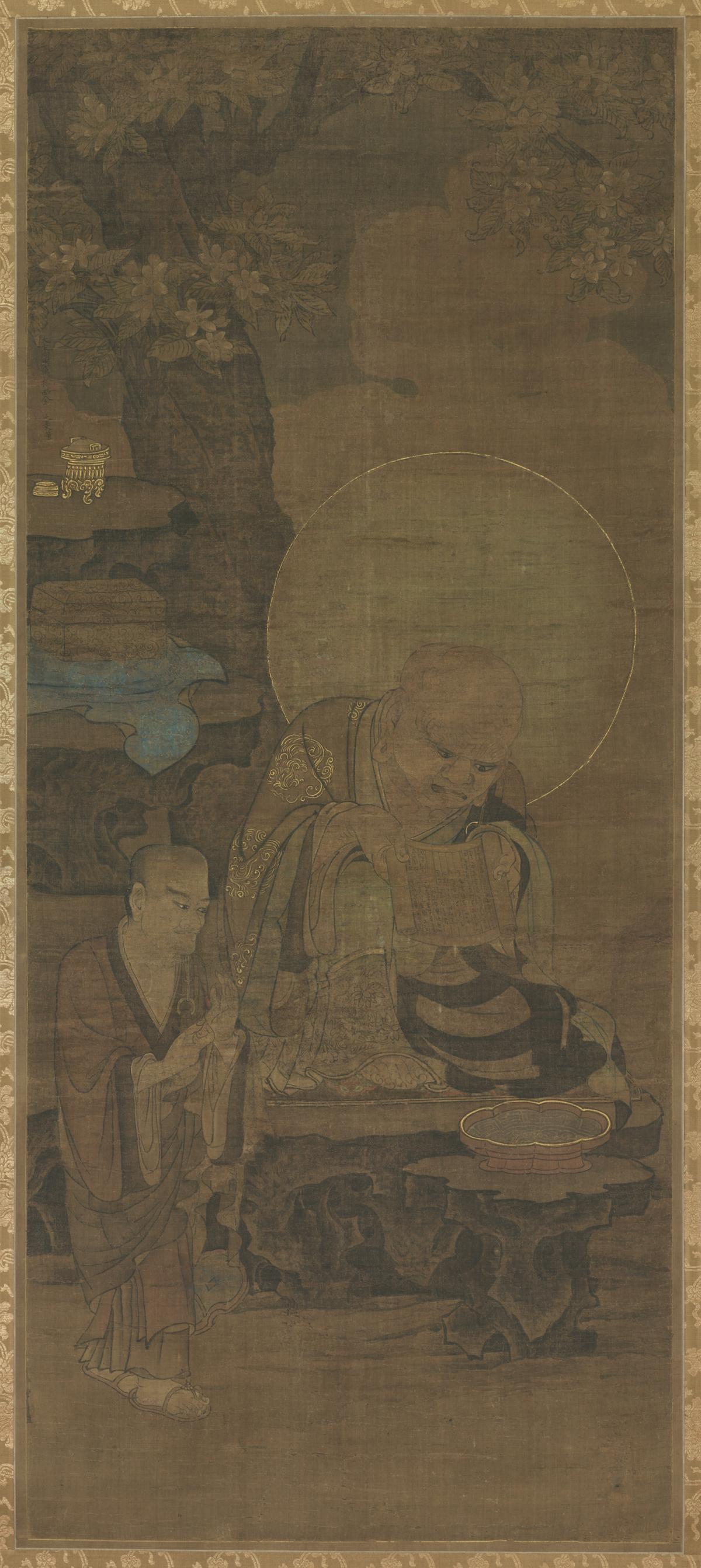 南宋 金大受 十六罗汉图绢本东京 172x77(4)