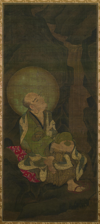 南宋 金大受 十六罗汉图绢本东京 172x77(8)