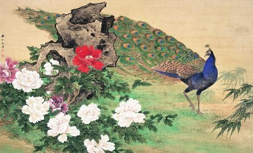 田世光 富贵迎春 125x195cm 纸本设色 1975年  国务院机关事务管理局藏