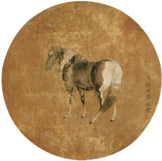 郎世宁 骏马图 立轴 设色绢本作品欣赏