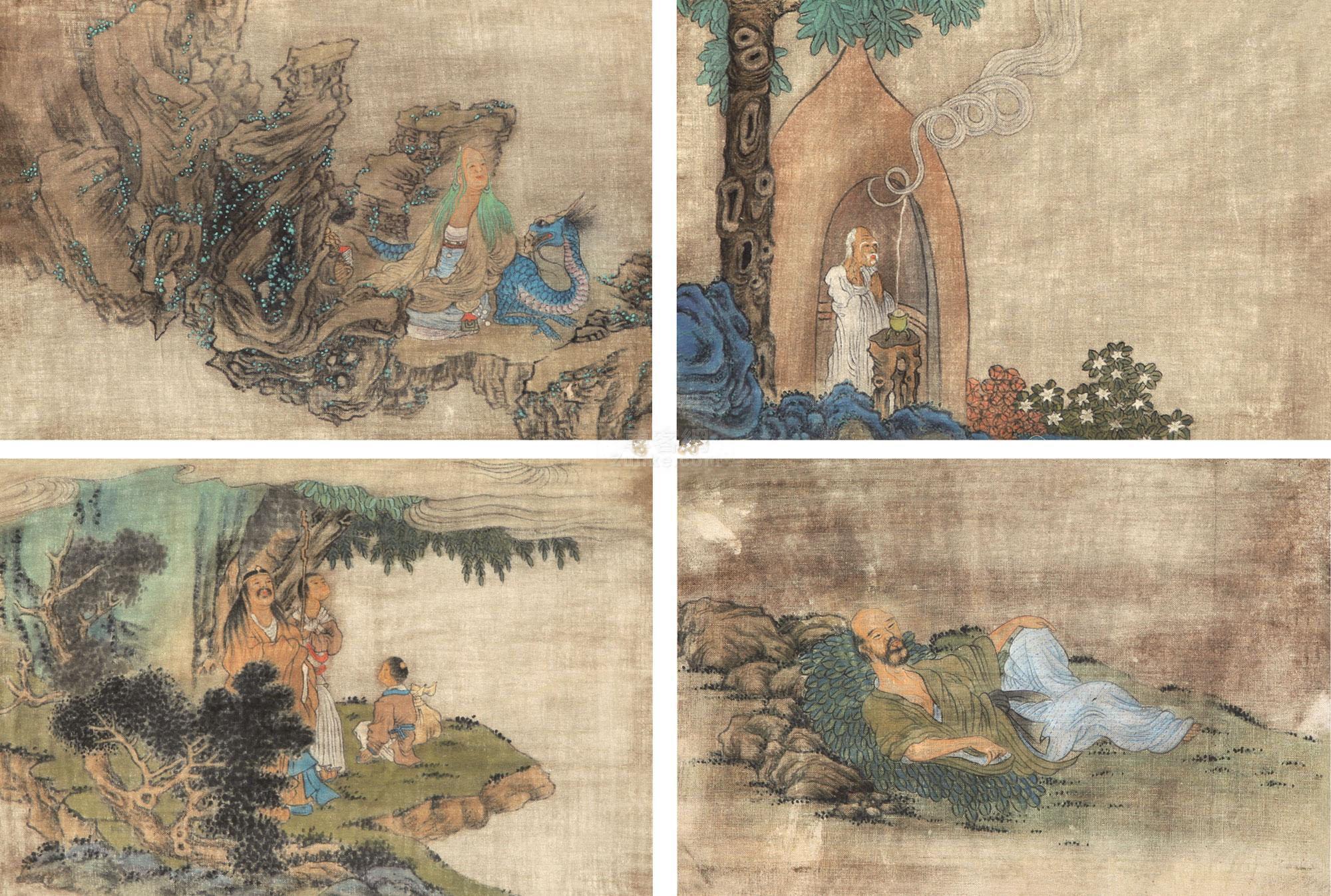 佚名 达摩 单片 绢本作品欣赏