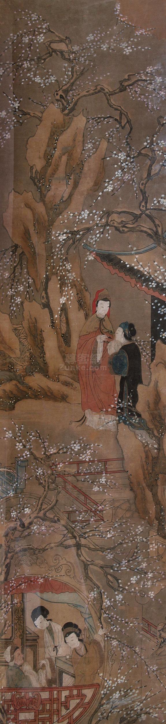 佚名 仕女 镜框 纸本作品欣赏