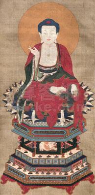 佚名 佛像 镜片 绢本作品欣赏