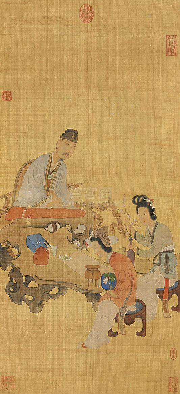 佚名 人物 立轴 绢本作品欣赏