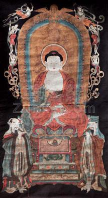 佚名 佛像 镜心 绢本作品欣赏