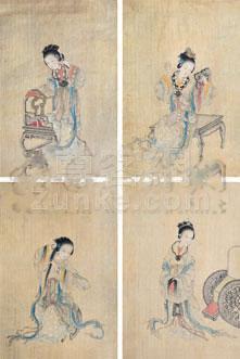 佚名 人物 镜片 绢本作品欣赏