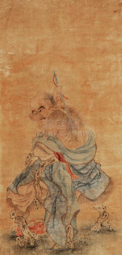 佚名 罗汉 镜心 设色绢本作品欣赏