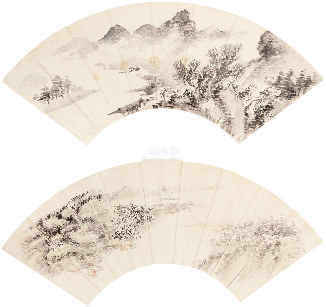 佚名 山水 镜片 纸本作品欣赏
