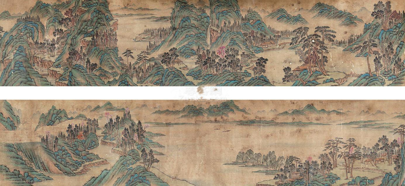 佚名 山水手卷 手卷 绢本作品欣赏