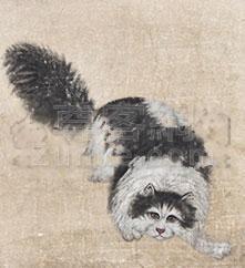 佚名 猫 镜片 纸本作品欣赏