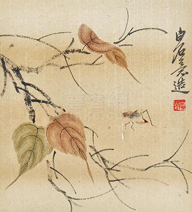 齐白石 草虫 立轴 纸本作品欣赏