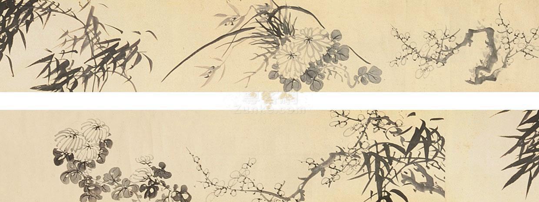 佚名 花卉 手卷 纸本作品欣赏