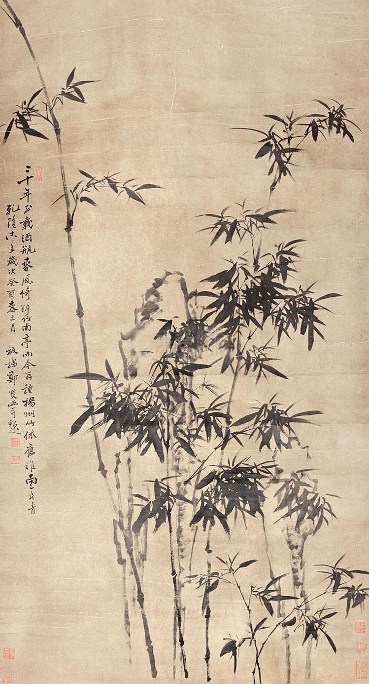 郑板桥 竹子 立轴 纸本作品欣赏