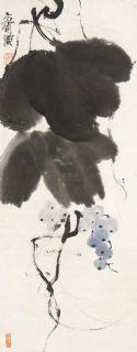 齐白石 葡萄 立轴 纸本作品欣赏