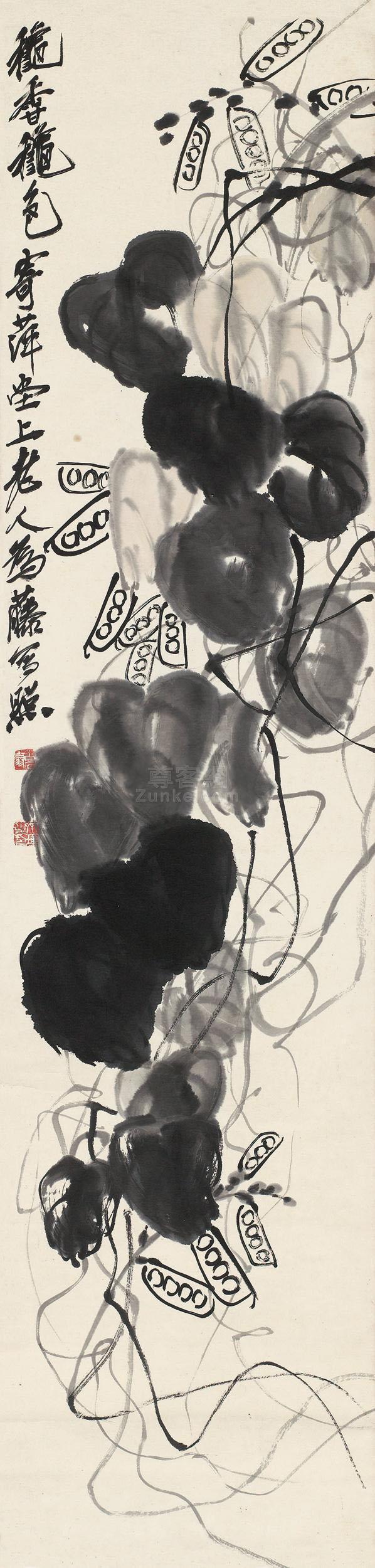齐白石 秋香秋色图 立轴 水墨纸本作品欣赏