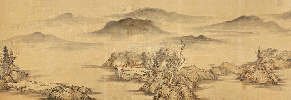 佚名 山水横幅 横幅 绢本 佚名 山水横幅 横幅 绢本作品欣赏