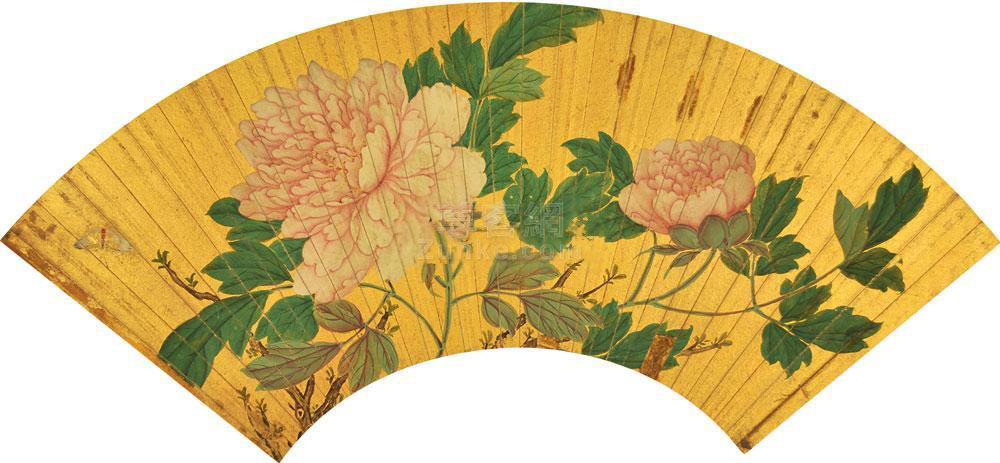 佚名 花卉 扇面 泥金 佚名 花卉 扇面 泥金作品欣赏