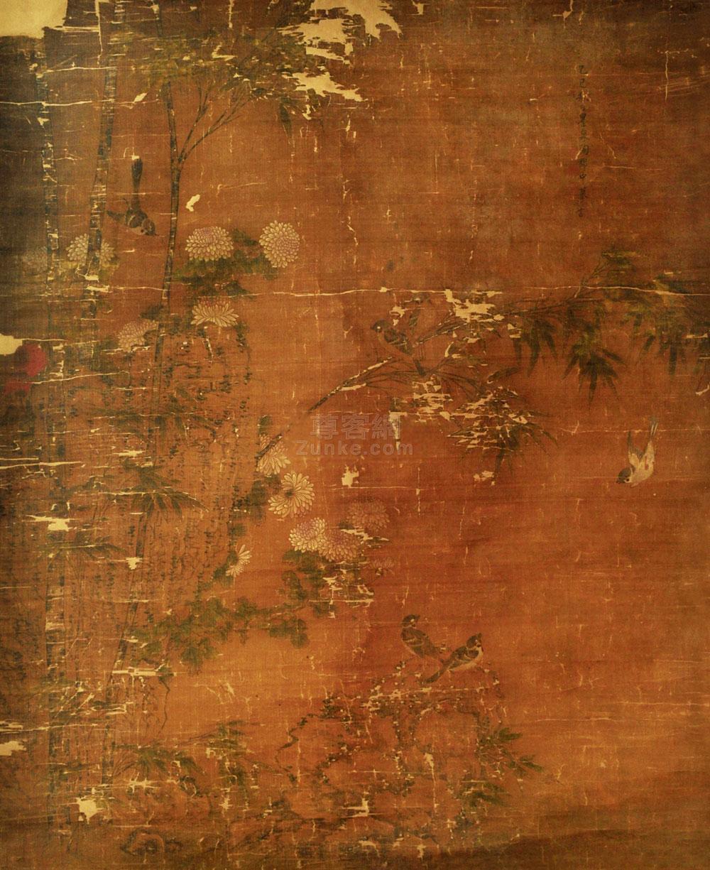 佚名 花鸟 镜片 绢本 佚名 花鸟 镜片 绢本作品欣赏