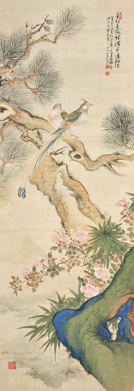 佚名 花鸟 立轴 绢本 佚名 花鸟 立轴 绢本作品欣赏