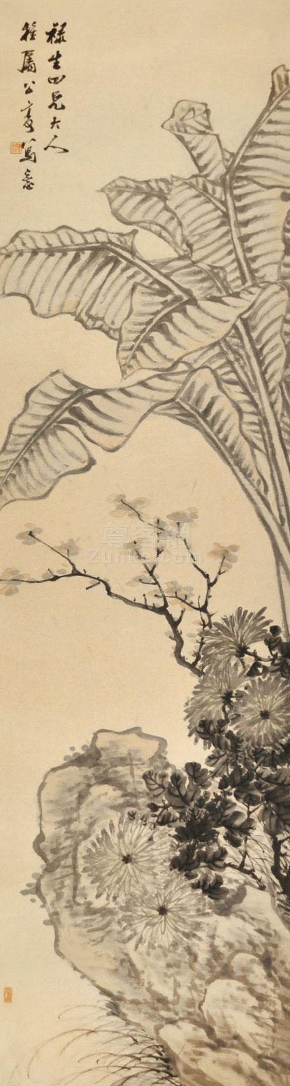 佚名 花鸟 立轴 纸本 佚名 花鸟 立轴 纸本作品欣赏