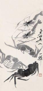 齐白石 虾蟹图 镜心 水墨纸本作品欣赏