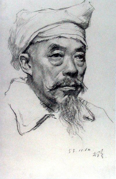 靳尚谊作品 靳尚谊素描作品 当代当代书法绘画作品