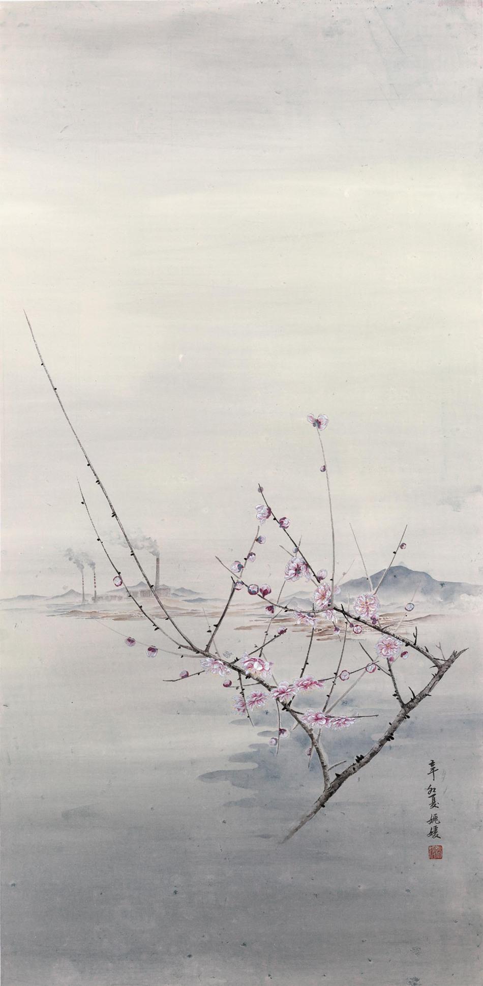 姚媛 姚媛路上的风景之三66cmx132cm2011年