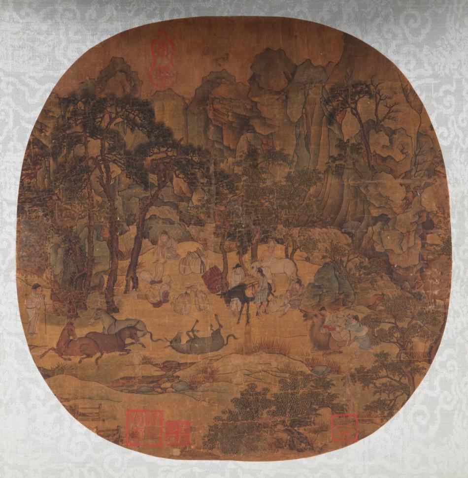 北宋宫廷画家《明皇幸蜀图》图片一作品欣赏