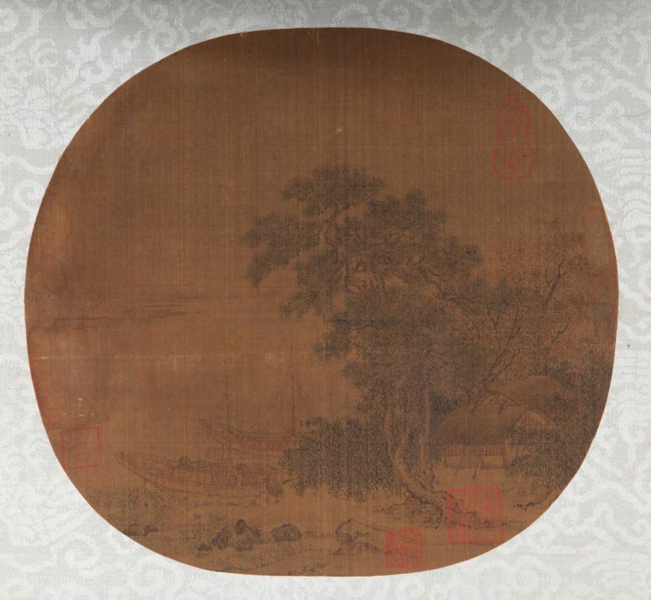南宋至元 佚名《野舟横渡图》作品欣赏