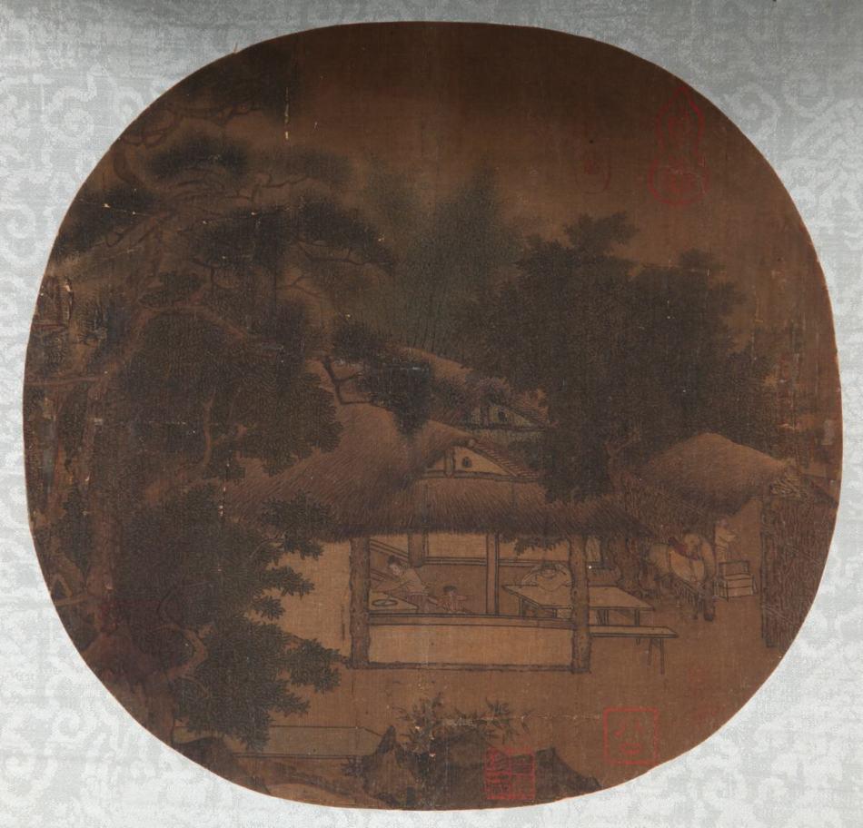 南宋 佚名《山居图》作品欣赏