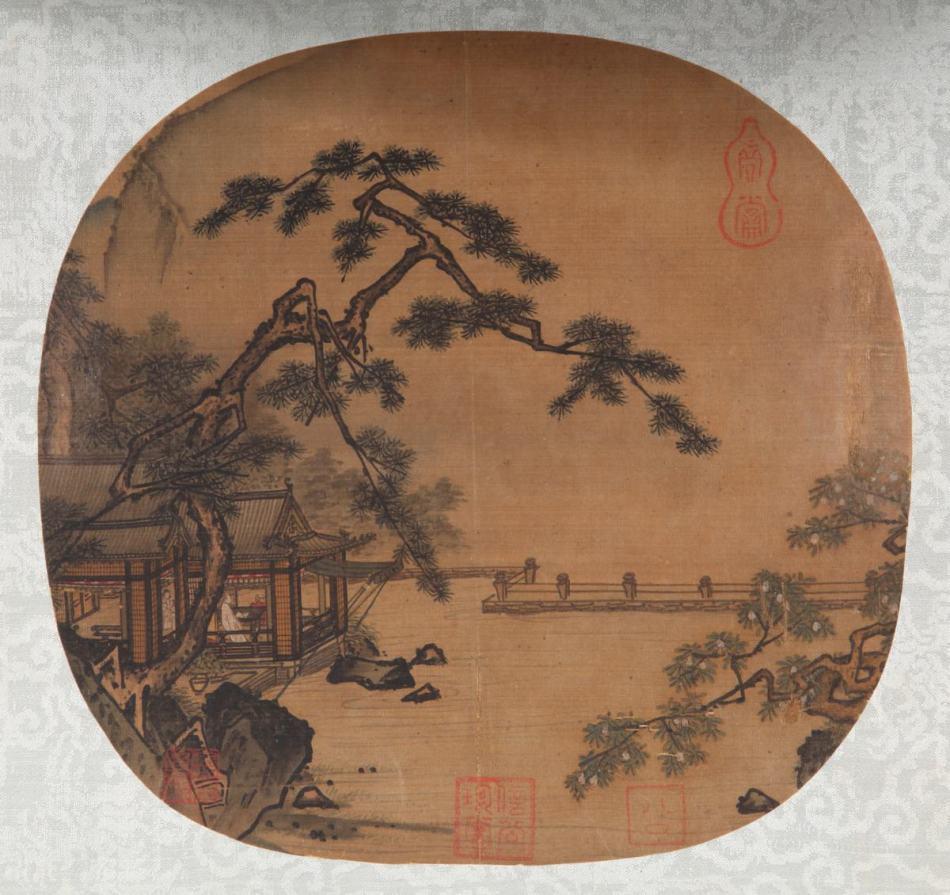 南宋 佚名《高士临眺图》作品欣赏