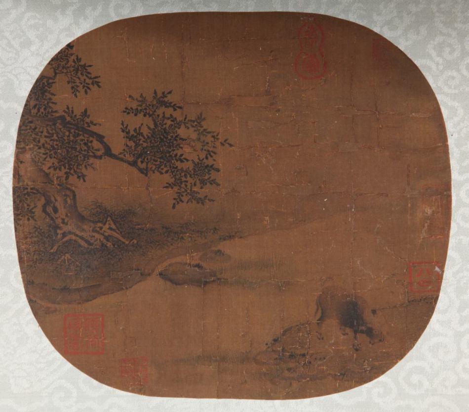 南宋 佚名《牧牛图》作品欣赏