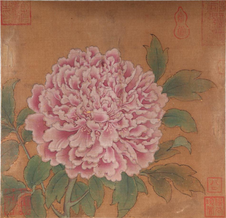 南宋 佚名《牡丹图》作品欣赏