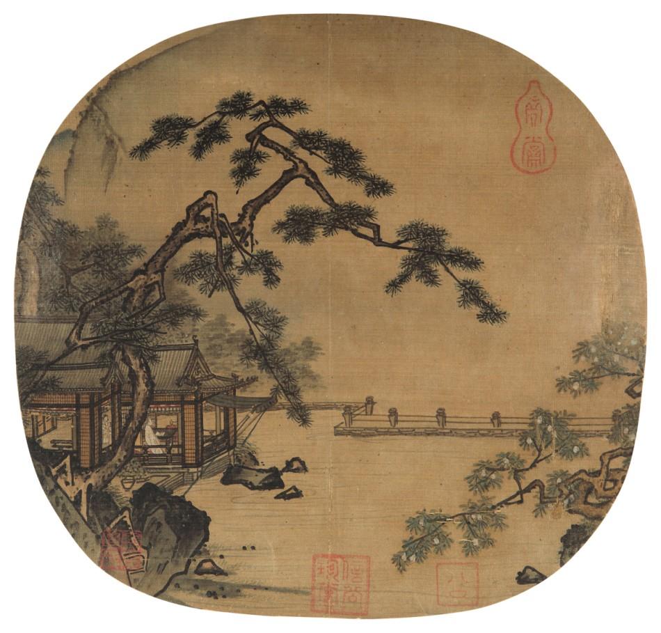 南宋 佚名《高士临眺图》RMB 9,430,000图片一作品欣赏